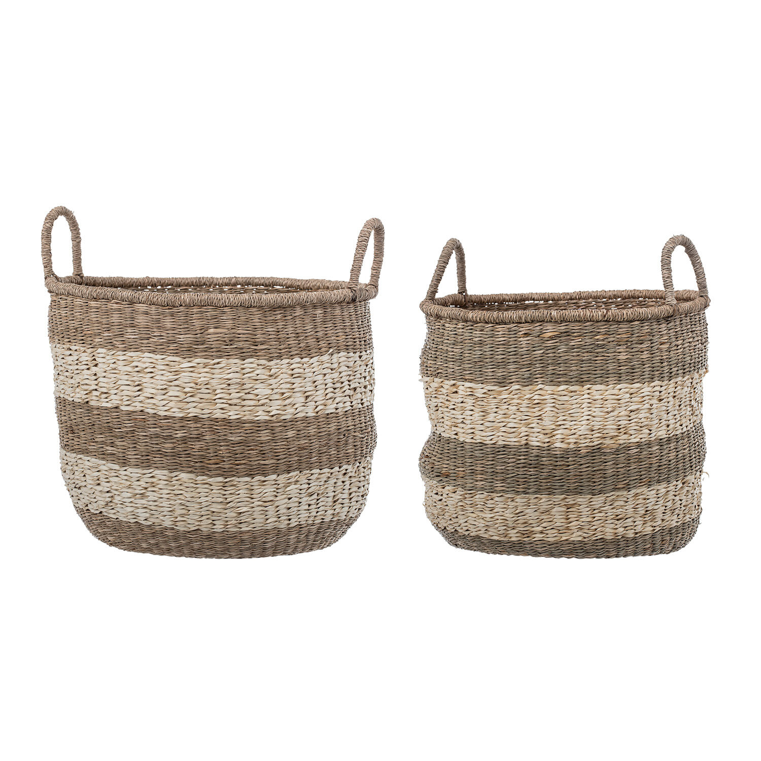 Natural Seagrass Wicker 2 Piece Basket Set with Handles | Joss & Main