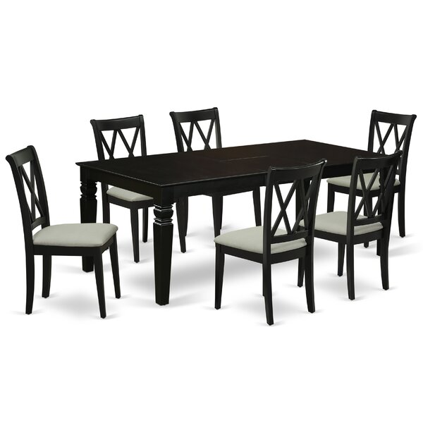 Fogleman 7 Piece Extendable Solid Wood Dining Set by Winston Porter Winston Porter