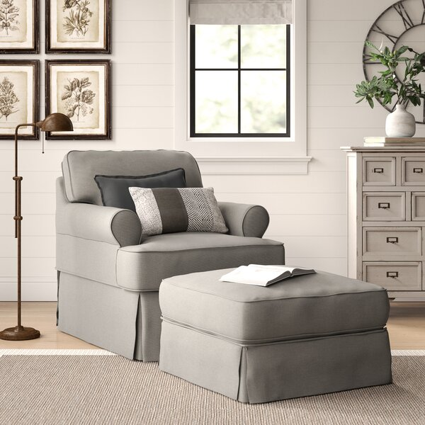 Coral Gables Armchair and Ottoman by Beachcrest Home