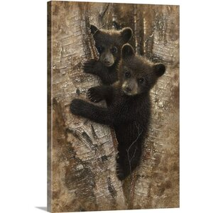 'Curious Cubs' by Collin Bogle Painting Print on Wrapped Canvas by Great Big Canvas