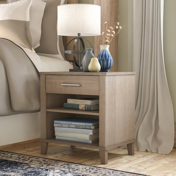 Valencia 1 Drawer Nightstand by Laurel Foundry Modern Farmhouse
