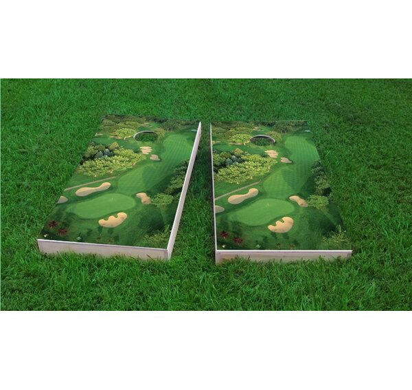 Golf Course Flyover Cornhole Game Set by Custom Cornhole Boards