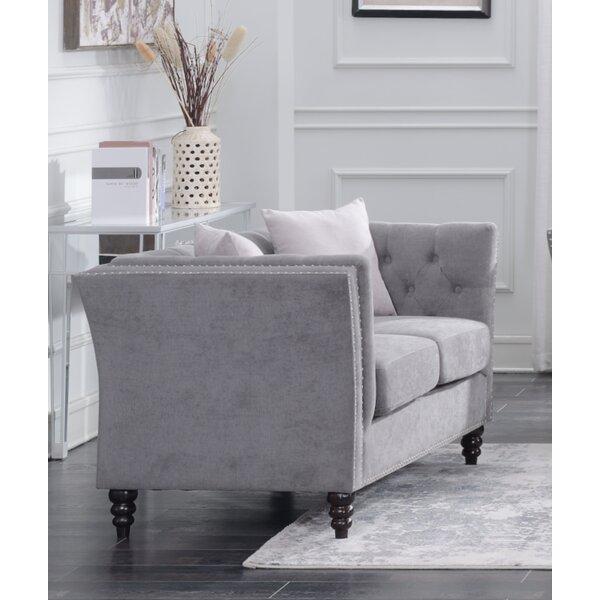 Schmucker Living Room Chesterfield Loveseat By House Of Hampton