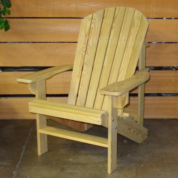 Solid Wood Adirondack Chair by Hershy Way