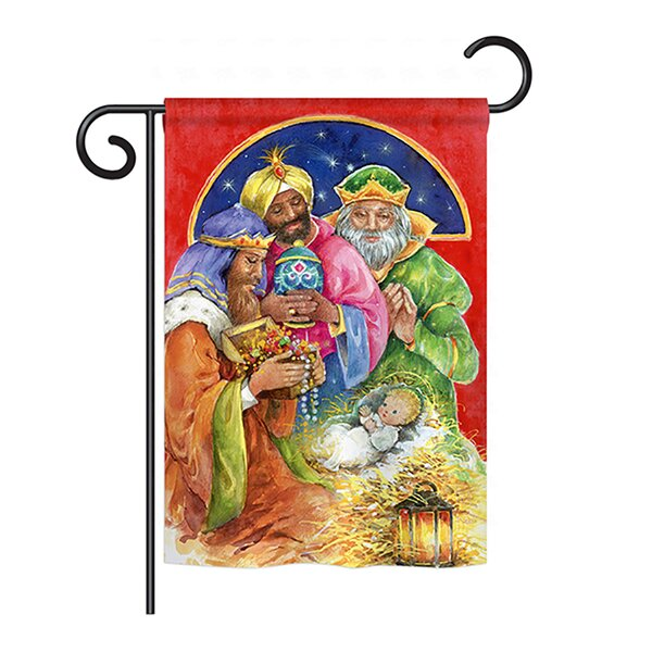 Three Kings Gifts 2-Sided Vertical Flag by Breeze Decor