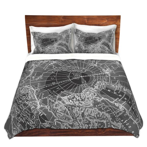 Arctic Map Duvet Cover Set