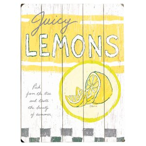 Juicy Lemons Graphic Art Multi-Piece Image on Wood by Artehouse LLC
