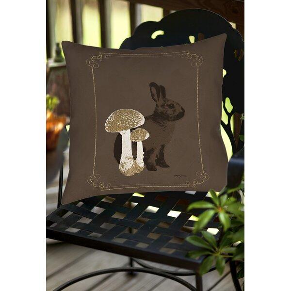 Luxury Lodge Rabbit Indoor/Outdoor Throw Pillow by Manual Woodworkers & Weavers