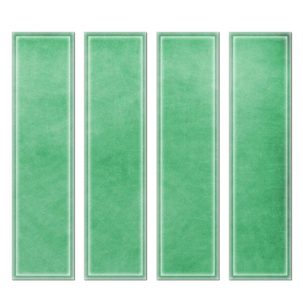 Crystal 3 x 12 Beveled Glass Subway Tile in Green by Upscale Designs by EMA