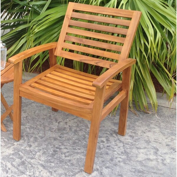 Kasandra Teak Patio Dining Chair by Chic Teak