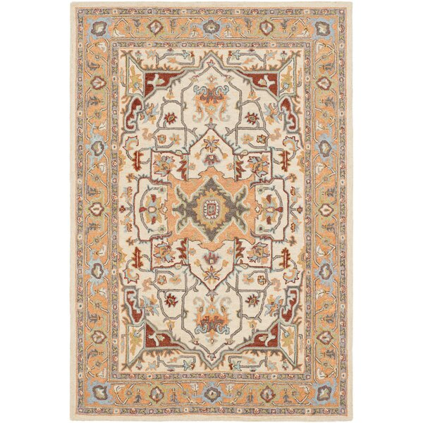 Greater Taree Hand Hooked Wool Peach/Cream Area Rug by Alcott Hill