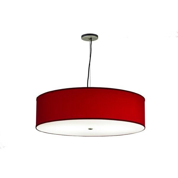Cilindro Textrene 2-Light Unique / Statement Drum Chandelier by Meyda Tiffany Meyda Tiffany