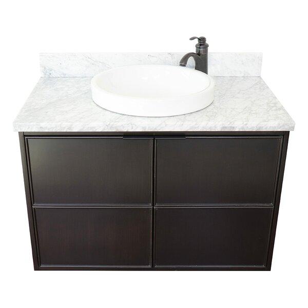 Elyria 37 Wall-Mounted Single Bathroom Vanity Set by Gracie Oaks