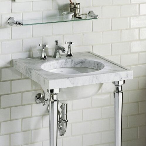 Kathryn Metal 24 Console Bathroom Sink by Kohler