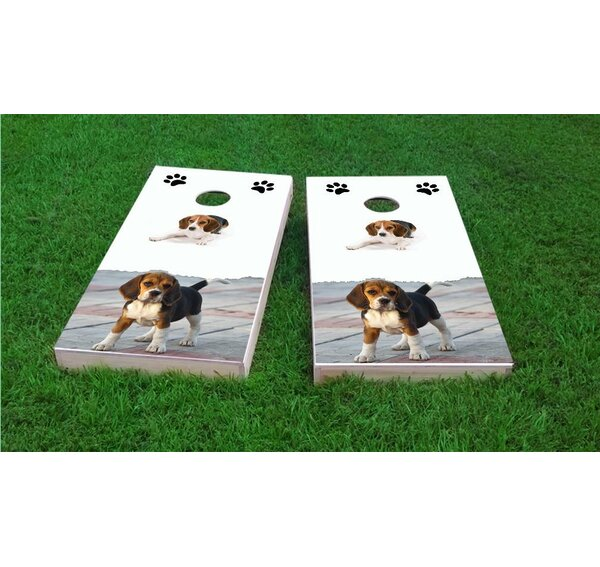 Beagle Lovers Cornhole Game Set by Custom Cornhole Boards
