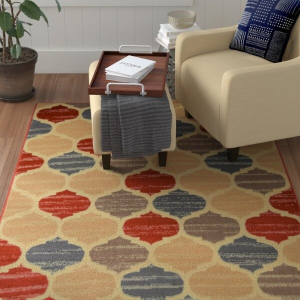 Trumble Trellis Cream Area Rug by Winston Porter