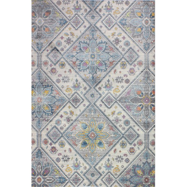 Goldie Ivory/Gray Area Rug by Bungalow Rose