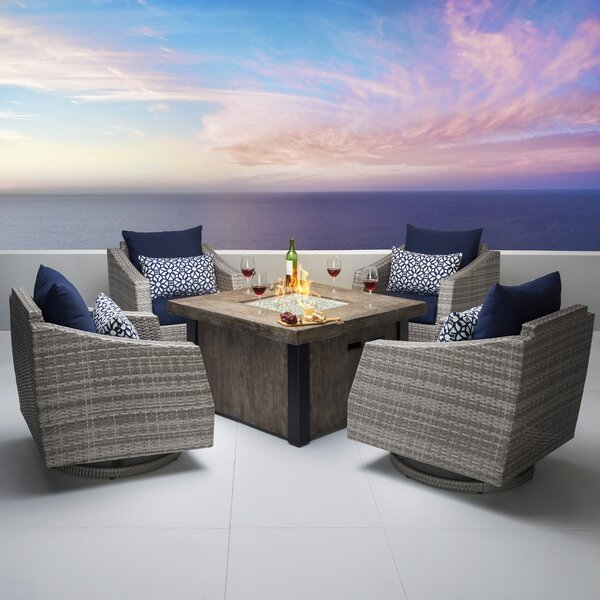 Castelli 5 Piece Conversation Set with Cushions by Wade Logan