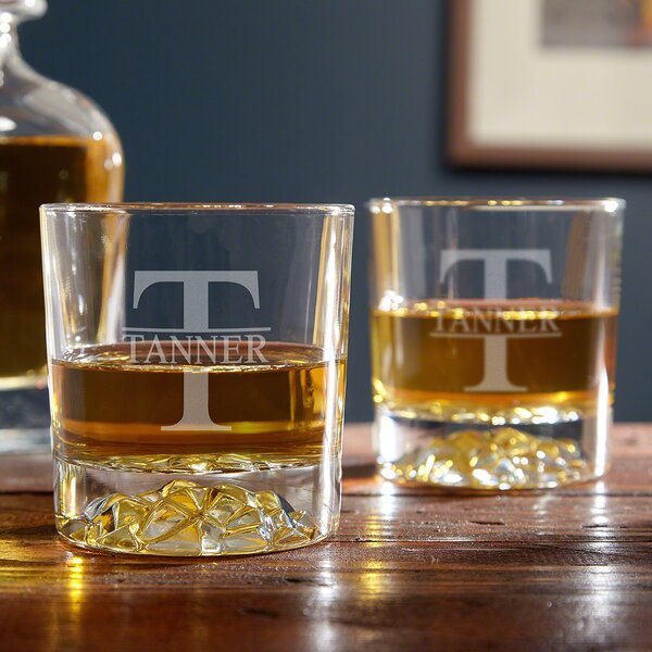 Oakmont Personalized 11 oz. Rocks Glass (Set of 2) by Home Wet Bar