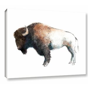 Colorful Bison' Painting Print on Wrapped Canvas by Union Rustic