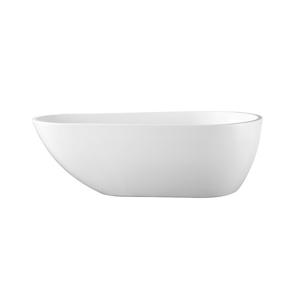 Scarlett Seamless 47 x 72.8 Freestanding Soaking Bathtub by Ove Decors