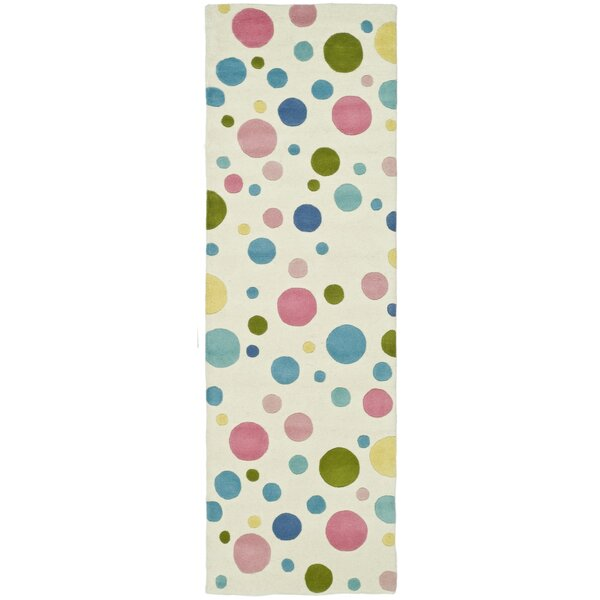 Thomas Pastel Hand-Tufted Blue Area Rug by Harriet Bee