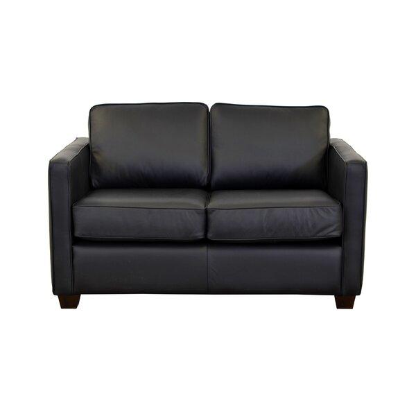 Check Price Salisbury Leather Loveseat