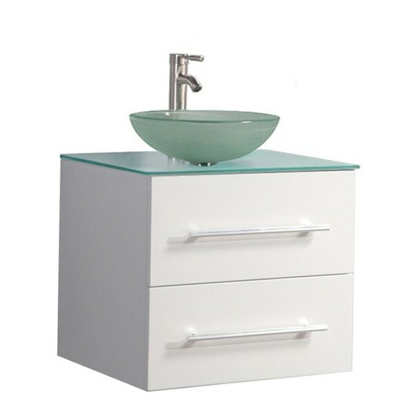 Prange Wall Mounted Modern 24 Single Bathroom Vanity Set by Orren Ellis