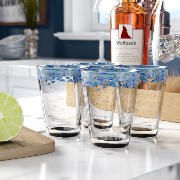 Asher 11 Oz. Double Old Fashioned Glass (Set of 4) by Beachcrest Home