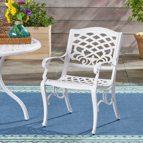 Hoopes Outdoor Patio Dining Chair (Set of 2) by August Grove