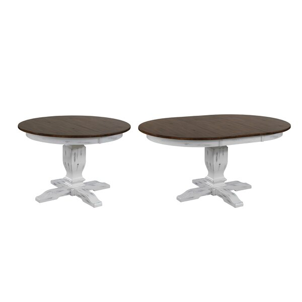 Bradyn Round Transitional Extendable Solid Wood Dining Table by Ophelia & Co.