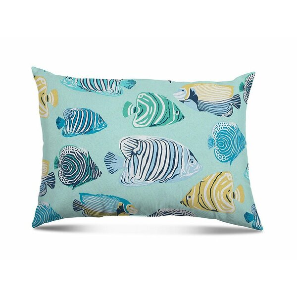 Westerly Fish Tales Outdoor Lumbar Pillow (Set of 2) by Rosecliff Heights