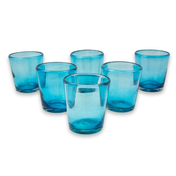 Javier and Efren Hand Blown Water Glass Set (Set of 6) by Novica