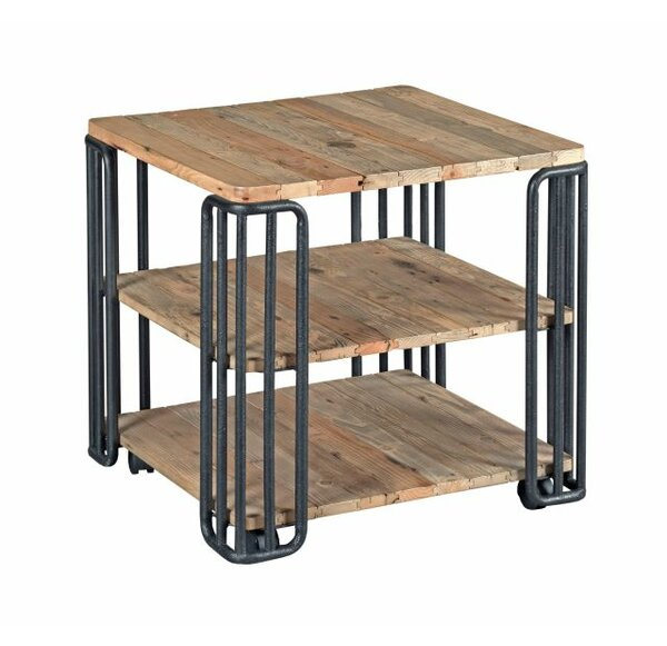 Solon Plank End Table by 17 Stories