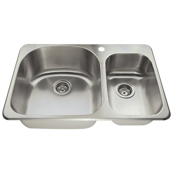 31 L x 20 W Double Basin Drop-In Kitchen Sink by MR Direct