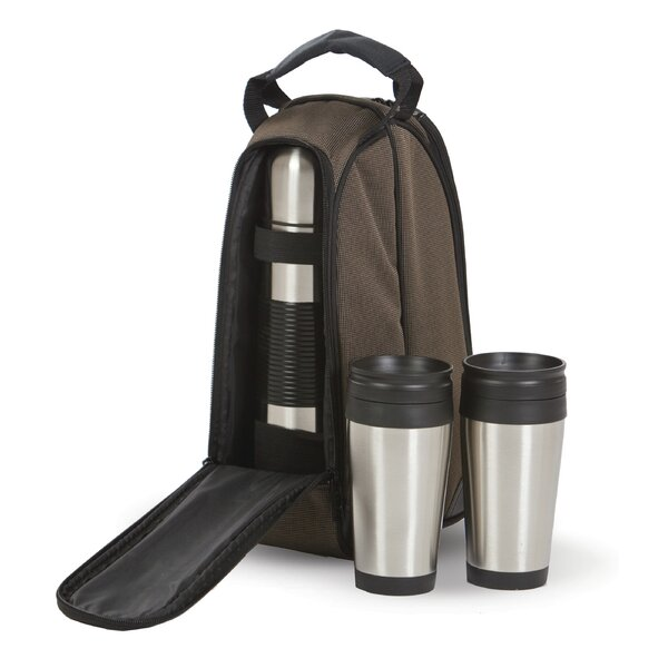 Coffee Companion Travel Mug and Thermos Bottle Coffee Set by Picnic Plus