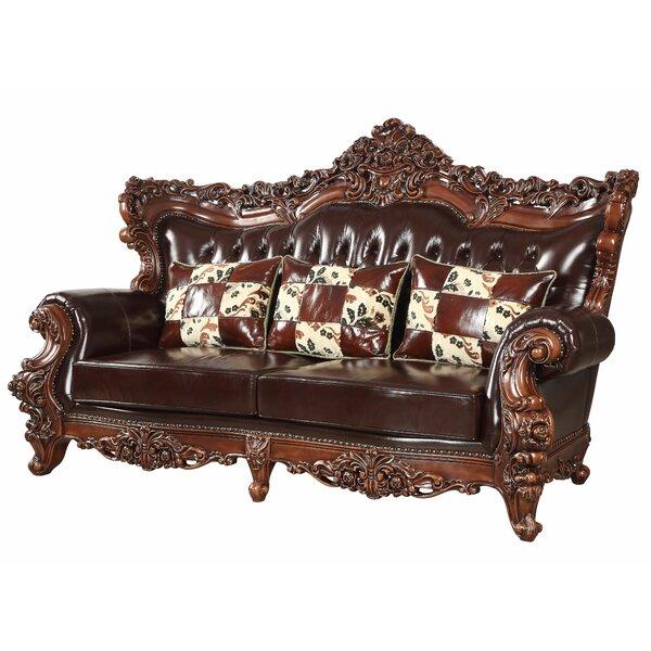 Keagan Leather Sofa by Astoria Grand