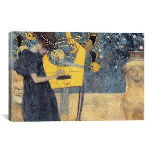 'Musik I 1895' by Gustav Klimt Painting Print on Canvas by iCanvas