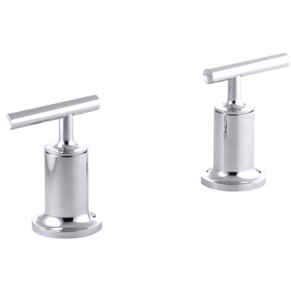 Purist Deck- or Wall-Mount High-Flow Bath Trim with Lever Handles by Kohler