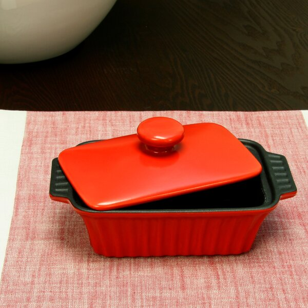 Rectangular Non-Stick Denhoff Ribbed Casserole with Lid by Crock-pot