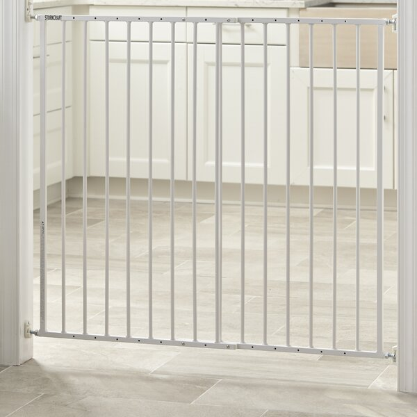 Easy Walk-Thru Tall Metal Safety Gate by Storkcraft