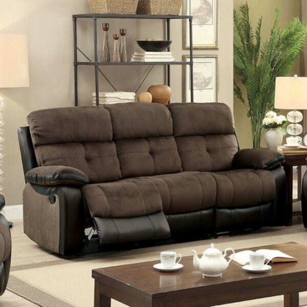 Best Discount Online Viergeline Leather Reclining Sofa by Red Barrel Studio by Red Barrel Studio