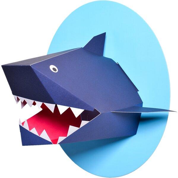 Oceanography Xander the Shark Paper Bust Wall Decor by Nursery works