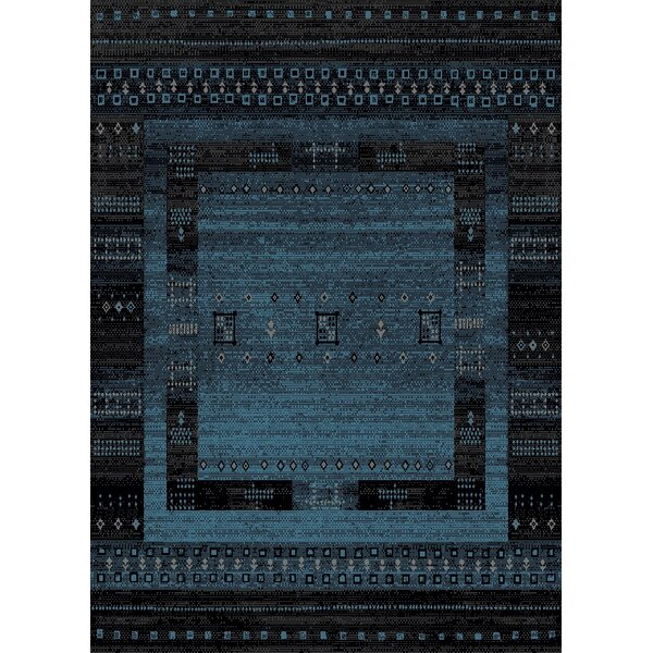 Marana Anti-Bacterial Blue/Black Indoor/Outdoor Area Rug by Bloomsbury Market