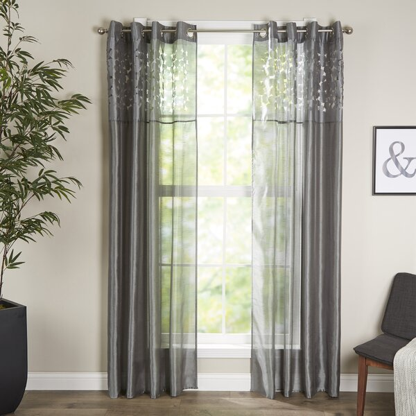 Karla Sheer Grommet Single Curtain Panel by Lavish Home