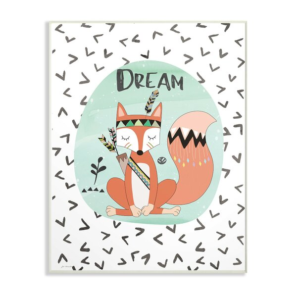 Feng Dream Tribal Fox Decorative Plaque by Harriet Bee