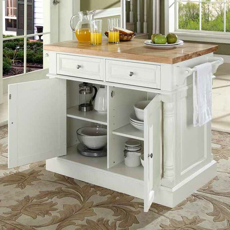Chalfant Kitchen Island With Butcher Block Top