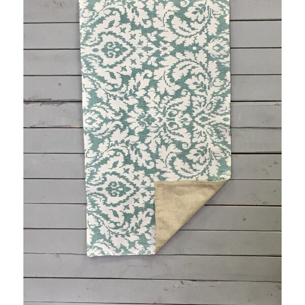 Kennell Natural Damask Reversible Table Runner by Alcott Hill