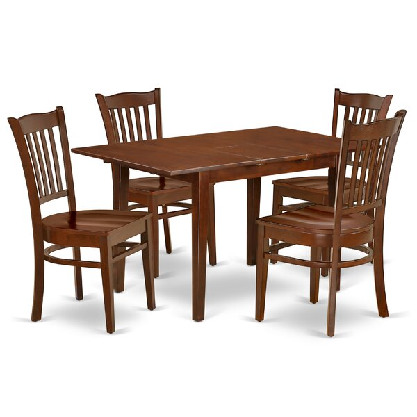 Amante 5 Piece Extendable Solid Wood Dining Set by Winston Porter Winston Porter