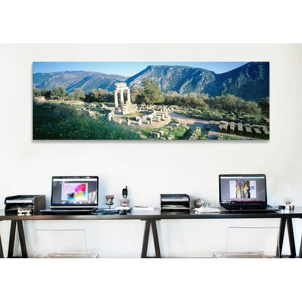 Panoramic The Tholos, Delphi, Greece Photographic Print on Canvas by iCanvas